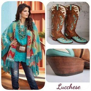 LUCCHESE Custom Handmade Women's Western Boots 8.5